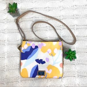{Fossil} Floral Leather Crossbody Purse Bag